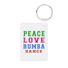 Peace Love Rumba Dance Designs Aluminum Photo Keyc