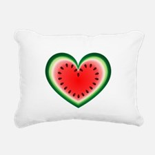 Watermelon Heart Rectangular Canvas Pillow