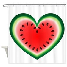 Watermelon Heart Shower Curtain
