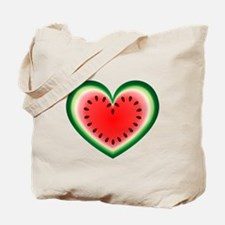 Watermelon Heart Tote Bag