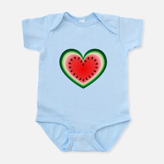 Watermelon Heart Body Suit