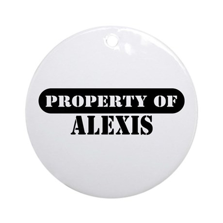 Property of Alexis Ornament (Round)