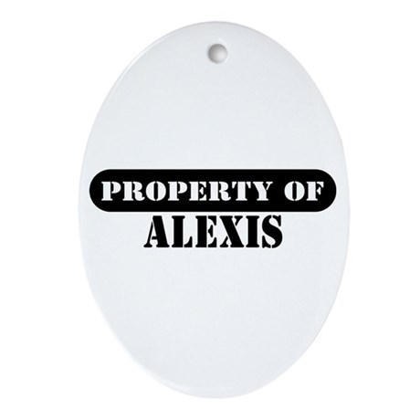 Property of Alexis Oval Ornament