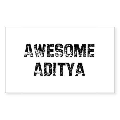 Awesome Aditya Rectangle Sticker