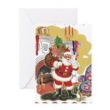 Vintage santa claus Greeting Cards