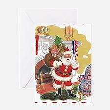 Vintage Christmas, Santa Claus Greeting Card