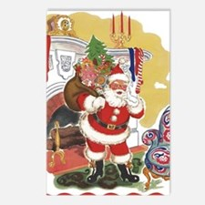 Vintage Christmas, Santa Postcards (Package of 8)