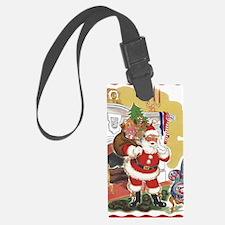 Vintage Christmas, Santa Claus Luggage Tag