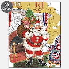 Vintage Christmas, Santa Claus Puzzle