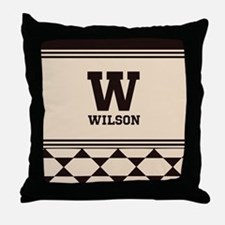 Simple Clean Elegant Monogram Throw Pillow