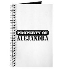 Property of Alejandra Journal