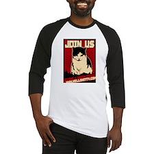 Hells Kitty Propaganda Poster Baseball Jersey
