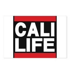 cali life red Postcards (Package of 8)