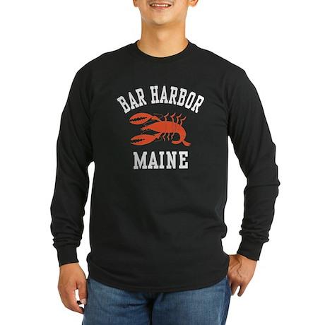 Bar Harbor Maine Long Sleeve Dark T-Shirt
