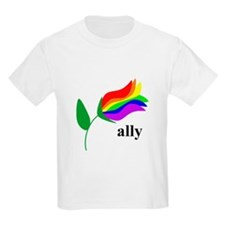 ally flower on clear with black text T-Shirt