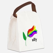 ally flower on clear with black text Canvas Lunch