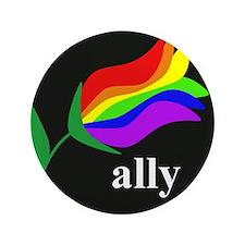 "button ally flower 2 3.5"" Button"