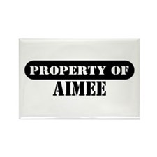 Property of Aimee Rectangle Magnet