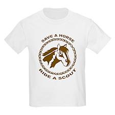 Ride A Scout Kids T-Shirt
