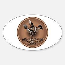 Mimbres Brn Quail Sticker (Oval)