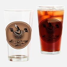 Mimbres Brn Quail Drinking Glass