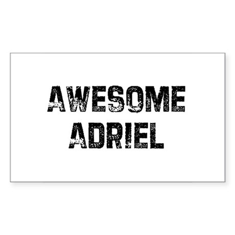 Awesome Adriel Rectangle Sticker