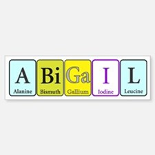 Abigail Bumper Bumper Sticker
