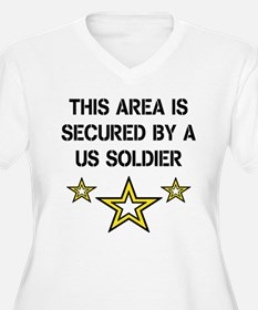 area secured Soldier Plus Size T-Shirt