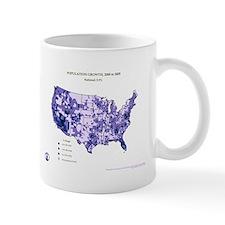 Population Growth 2005 County Map Mug