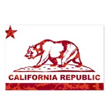 california bear camo red Postcards (Package of 8)