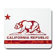 california bear camo red Mousepad