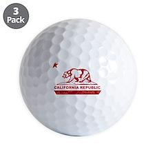 california bear camo red Golf Ball