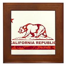 california bear camo red Framed Tile