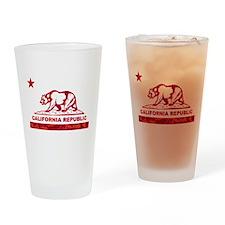 california bear camo red Drinking Glass