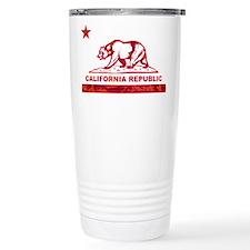 california bear camo red Travel Mug