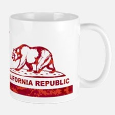 california bear camo red Mug