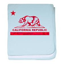california bear camo red baby blanket