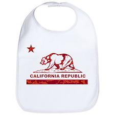 california bear camo red Bib