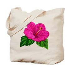 Large Pink Hibiscus Bloom Tote Bag