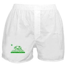 california bear camo green Boxer Shorts