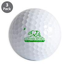 california bear camo green Golf Ball