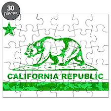 california bear camo green Puzzle