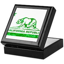california bear camo green Keepsake Box