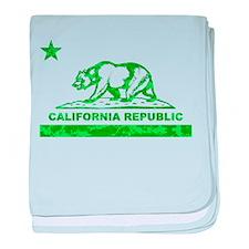 california bear camo green baby blanket