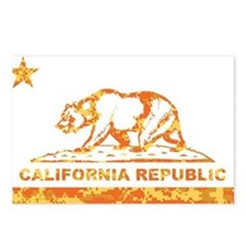 california bear camo orange Postcards (Package of