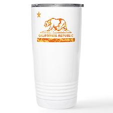 california bear camo orange Travel Mug