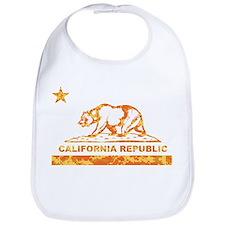 california bear camo orange Bib
