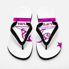 california bear camo pink Flip Flops