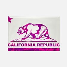 california bear camo pink Rectangle Magnet