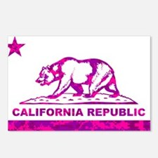 california bear camo pink Postcards (Package of 8)
